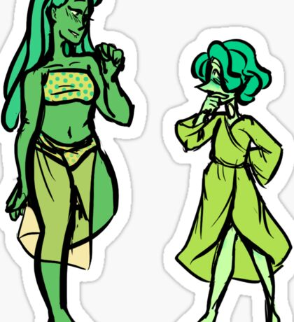 Jade and her Pearl Sticker