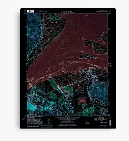 USGS TOPO Map California CA Vine Hill 102376 1959 24000 geo Inverted Canvas Print