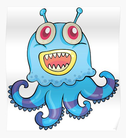 Smille Octopus Poster