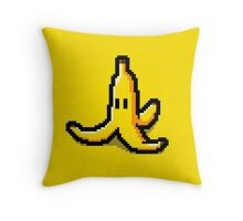 Pixel banana Throw Pillow