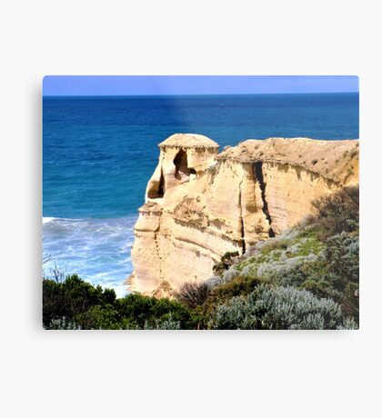 Our Beachfront House Metal Print