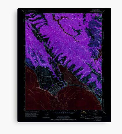 USGS TOPO Map California CA Bolinas 288531 1954 24000 geo Inverted Canvas Print