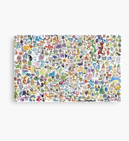 all poke Canvas Print