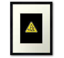 Hazardous roads Framed Print
