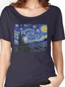 The Starry Night by Vincent van Gogh Women's Relaxed Fit T-Shirt