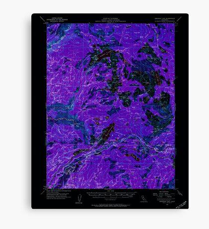 USGS TOPO Map California CA Emigrant Gap 297419 1955 62500 geo Inverted Canvas Print