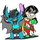 Bat-Stitch & Lilo-Robin by Skree