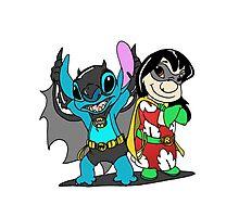 Bat-Stitch & Lilo-Robin Photographic Print