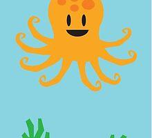 Octopus Under The Sea by JoshCooper