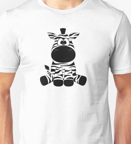 Sitting Zebra Unisex T-Shirt