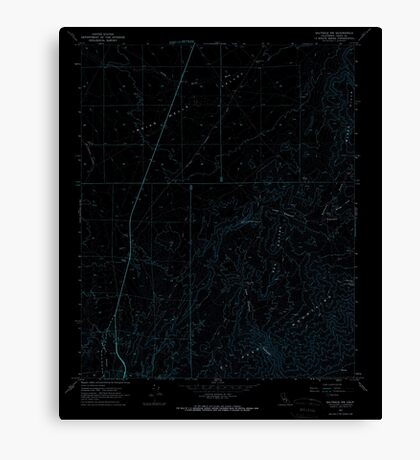 USGS TOPO Map California CA Saltdale NW 294923 1967 24000 geo Inverted Canvas Print