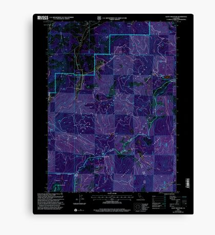 USGS TOPO Map California CA Scott Mountain 102534 2001 24000 geo Inverted Canvas Print