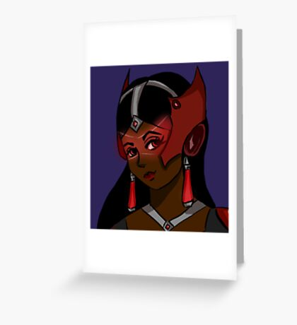 vampire symmetra  Greeting Card