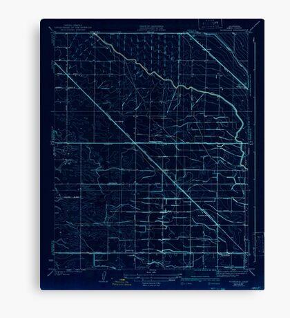 USGS TOPO Map California CA Rosedale 296483 1933 31680 geo Inverted Canvas Print