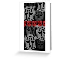 The Iconic Autobots (black) Greeting Card