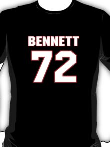 NFL Player Michael Bennett seventytwo 72 T-Shirt