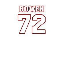 NFL Player Stephen Bowen seventytwo 72 Photographic Print