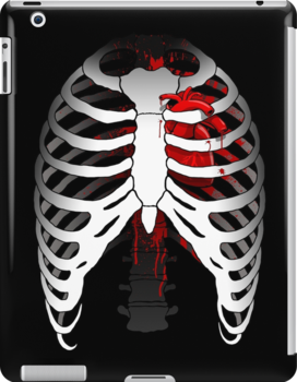 Love hurts... (Ribcage with heart) by R-evolution GFX