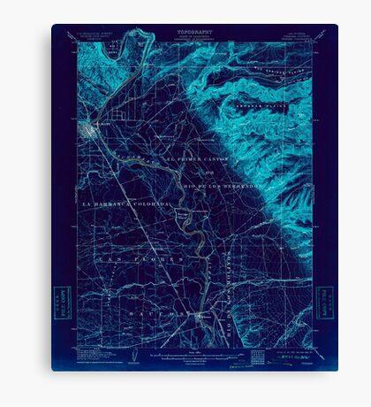 USGS TOPO Map California CA Tehama 298990 1905 62500 geo Inverted Canvas Print