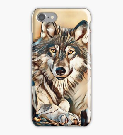 My Creative Design of a Grey Timber Wolf iPhone Case/Skin
