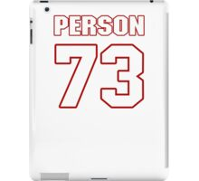 NFL Player Mike Person seventythree 73 iPad Case/Skin
