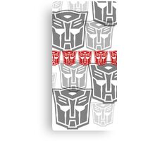 The Iconic Autobots (white) Canvas Print