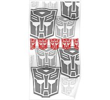 The Iconic Autobots (white) Poster