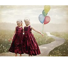 Our hearts say we're friends Photographic Print