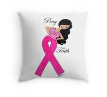 Breast Cancer T-Shirts Throw Pillow