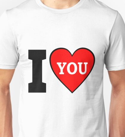Valentine's Day I Heart You / I Love You Design Unisex T-Shirt