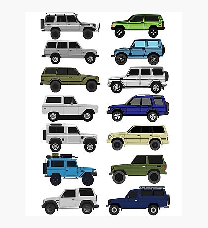 4x4 offroad Trucks Collection  Photographic Print