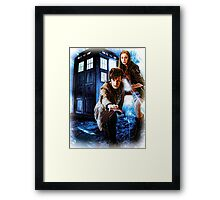 Action figures of Doctor Hoodie / T-Shirt Framed Print