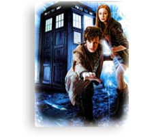 Action figures of Doctor Hoodie / T-Shirt Canvas Print