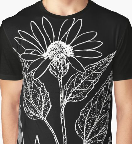 Britton And Brown Illustrated flora of the northern states and Canada 0783 Helianthus petiolaris Graphic T-Shirt