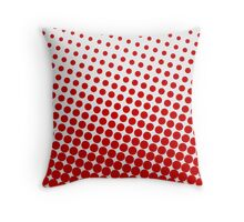 Red Dots on White Pattern Print Throw Pillow