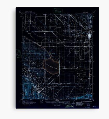 USGS TOPO Map California CA Buena Vista Lake 299247 1912 125000 geo Inverted Canvas Print