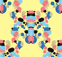 Abstract Rorschach pattern by Sudjino