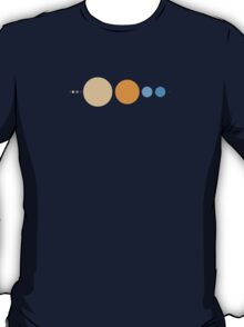 Planets to scale pattern T-Shirt