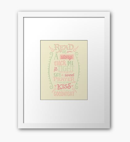 Read Me A Story, Tuck Me In Tight Framed Print