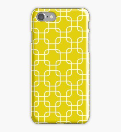 Yellow retro network squares iPhone Case/Skin