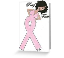 AFRICAN AMERICAN BREAST CANCER CARD AND T-SHIRT Greeting Card