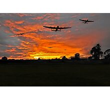 Bomber county: Lincolnshire sunset 1943 Photographic Print