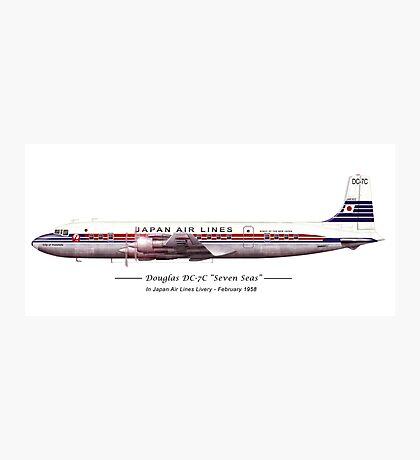 JAL Douglas DC7 Photographic Print