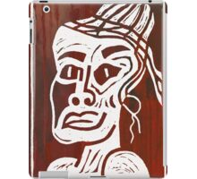 African Linocut Red iPad Case/Skin