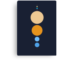 Planets To Scale (vertical) Canvas Print