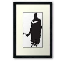 Superhero Silhouette Print Framed Print