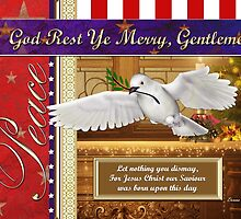 Peace Dove Military Christmas Card by xgdesignsnyc