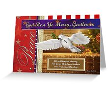 Peace Dove Military Christmas Card Greeting Card