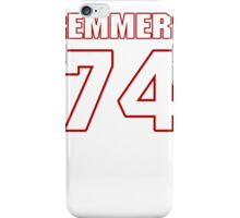 NFL Player Mike Remmers seventyfour 74 iPhone Case/Skin