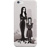 Morticia and Wednesday iPhone Case/Skin